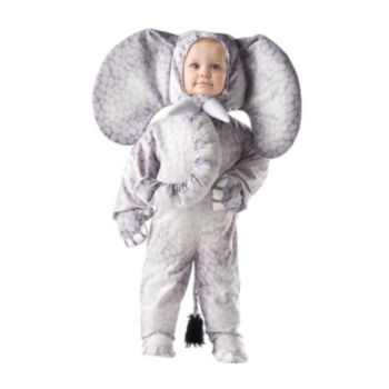 Grey Elephant ToddlerChild Costume