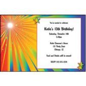 Rainbow Starburst Personalized Invitations