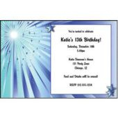 Blue Starburst Personalized Invitations