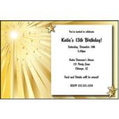Gold Starburst Personalized Invitations
