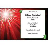 Xmas Starburst Personalized Invitations