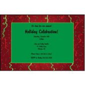 Christmas Confetti Swirls Personalized Invitations