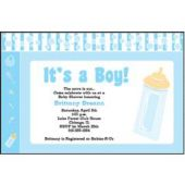 Baby Boy Blue  Personalized Invitations