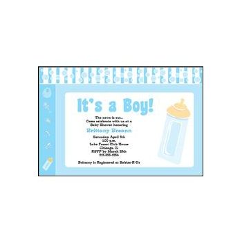 It's a Boy Blue Personalized Invitations