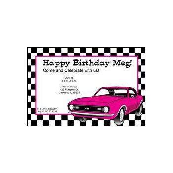 Pink Race Car