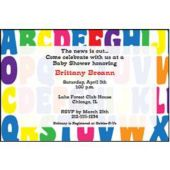 Alphabet Fun Personalized Invitations