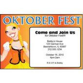 Oktoberfest Maid Personalized Invitations