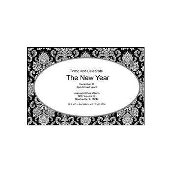 Mosaic Scroll Personalized Invitations