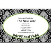 New Year Green Mosaic Personalzied Invitations
