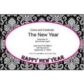 New Year Pink Mosaic Personalized Invitations
