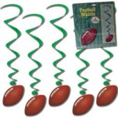 Football Whirl Decorations-5 Per Unit