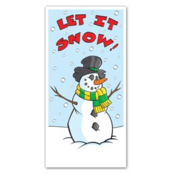 LET IT SNOW DOOR COVER
