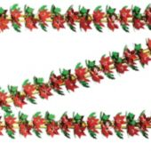 Poinsettia Garland Column