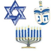 Hanukkah Cutouts-3 Per Unit