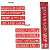 North Pole Sign Cutouts-4 Pack