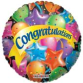 "Colorful Congratulations 18"" Balloon"