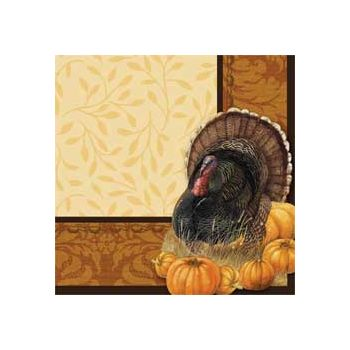 THANKSGIVING ELEGANCE BEVERAGE NAPKINS