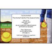 Softball Series Personalized Invitations