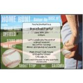 Baseball Playoffs Custom Invitations
