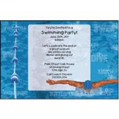 Swim Meet Personalized Invitations