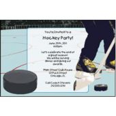 Hockey Puck Personalized Invitaions