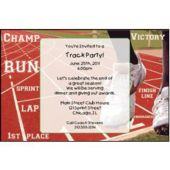 Track Meet Personalized Invitations
