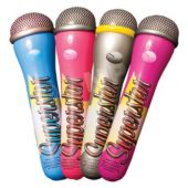 "Microphone 15"" Inflatables  - 12 Pack"