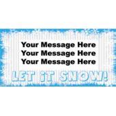 LET IT SNOW CUSTOM BANNER (Variety of Sizes)