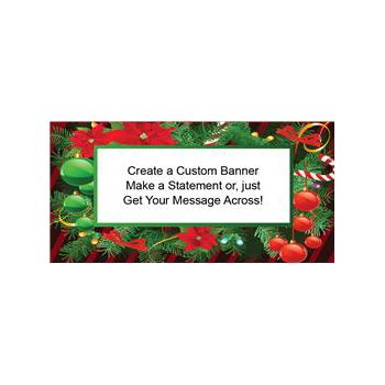 CHRISTMAS HOLLY CUSTOM BANNER (Variety of Sizes)