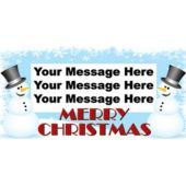 SNOWMAN CHRISTMAS CUSTOM BANNER (Variety of Sizes)