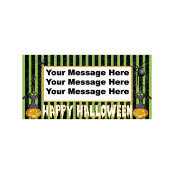 PUMPKIN STRIPES CUSTOM BANNER (Variety of Sizes)