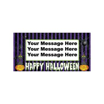 HALLOWEEN CAT STRIPE CUSTOM BANNER (Variety of Sizes)