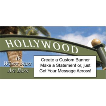 HOLLYWOOD SIGN CUSTOM BANNER