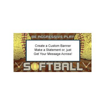 Softball Game Custom Banner