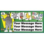 HAPPY EASTER BUNNY CUSTOM BANNER (Variety of Sizes)