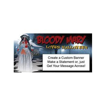 BLOODY MARY HALLOWEEN CUSTOM BANNER (Variety of Sizes)