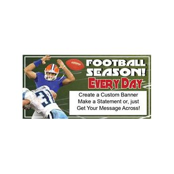 FOOTBALL SEASON CUSTOM BANNER (Variety of Sizes)