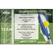 Lacrosse Playoffs Personalized Invitations