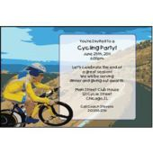 Cycling Theme Personalized Invitations