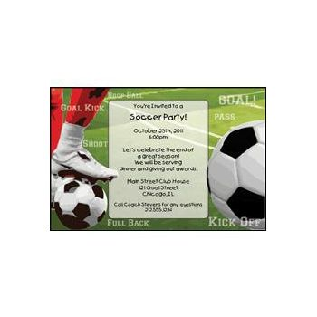 Soccer Cup Personalized Invitations