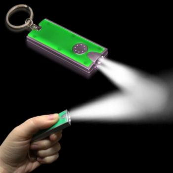 Green and Silver LED Keychain