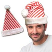 Candy Cane Stripe Santa Hat - 12 Pack