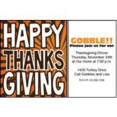 thanksgiving Celebration Personalized Invitations