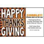 thanksgiving Celebration Personalized Invitations