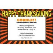 Thanksgiving Party Personalized Invitations