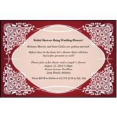 Red Kaleidoscope Personalized Invitations