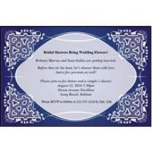 Blue Kaleidoscope Personalized Invitations