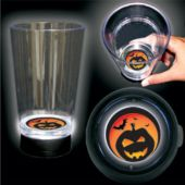 Jack-O-Lantern Logo LED Bottom Lit Cup - 16 Ounce