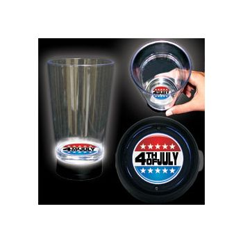 4th of July Logo LED Bottom Lit Cup - 16 Ounce