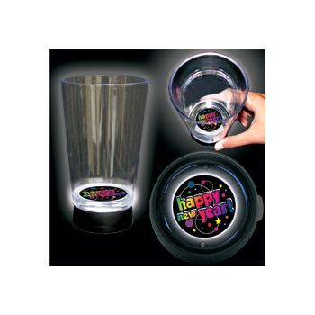New Year Party Logo LED Bottom Lit Cup - 16 Ounce